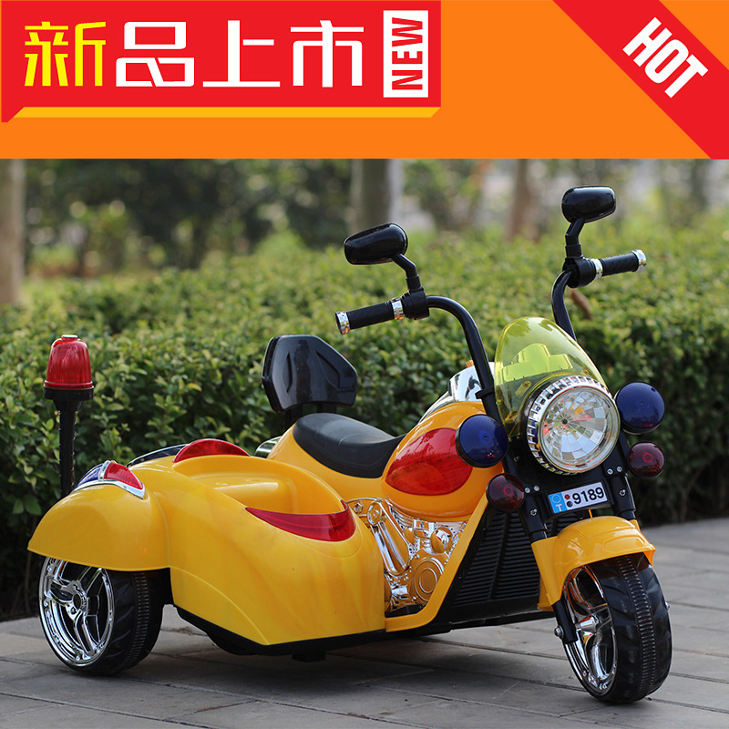 The new Mercedes Benz Harley children electric motor dual drive seat carrying children tricycle to baby
