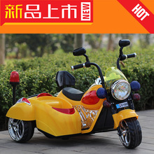 The new Mercedes Benz Harley children electric motor dual drive seat carrying children tricycle to baby toy car