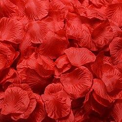 1000 шт./лот, лепестки роз, свадебные, искусственные шелковые цветы, украшения, свадебные, вечерние, цветные, 40 цветов, RP01 - Цвет: red