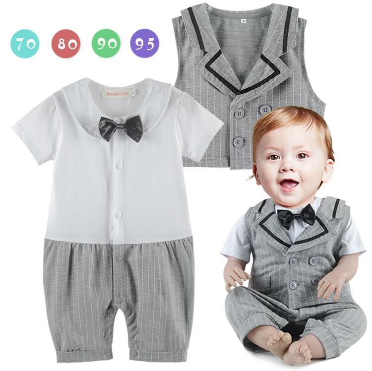 Baby boy gentleman romper bebe menino infant toddler striped vest cotton romper jumpsuit baby wedding clothes ropa recien nacido newborn baby rompers high quality natural cotton infant boy girl thicken outfit clothing ropa bebe recien nacido baby clothes