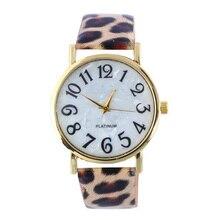 Scorching Gross sales Geneva Model Leopard leather-based watch Ladies Vogue Informal Quartz Wrist watches Clock Hour relogio feminino gv009