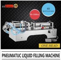 Single Head Pneumatic Liquid Filling Machine 90 1000ML Filler Milk Sealing