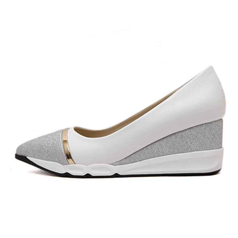 Slip 6 Tamaño Casual 8 Mujer Para Sólido Plataforma On Zapatos Negro Tacón Planos gris Comodidad Enredaderas Plata De Bling Cm Abramenko Mujeres 7FUwqxx