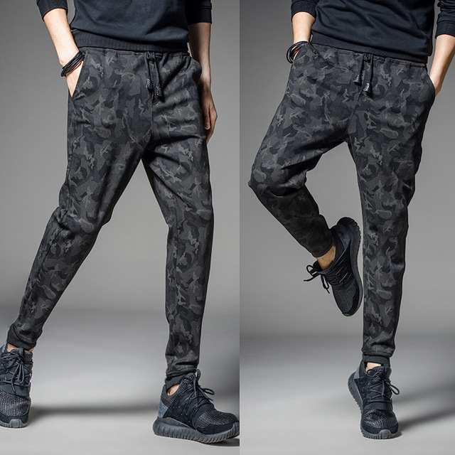 2017 НОВЫЙ мужчины повседневная камуфляж брюки печати бегунов мужчины шаровары брюки горячей продажи плюс размер m-4xl