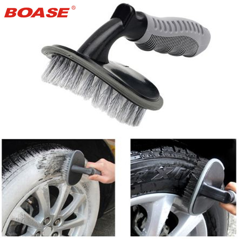 Vehicle Car Wheel Hub Rim Tyre Bend Shank Scrubbing Cleaning Brush Cleaner Car Wash Brushes Auto Maintenance
