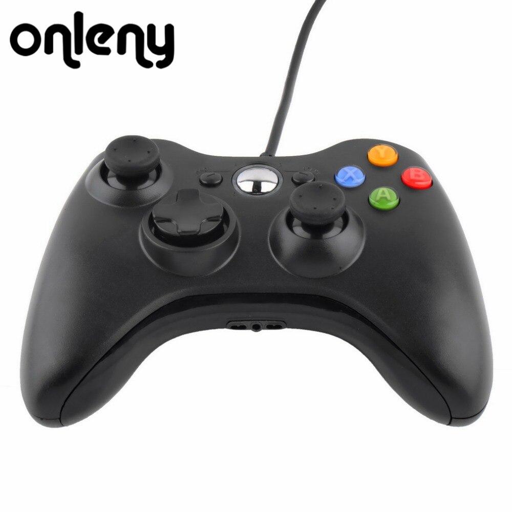 USB Com Fio Gaming Controller Gamepad Joypad Para Microsoft para Xbox 360 Slim 360 para PC Gamer Android Caixa de TV Inteligente Joystick Game Pad