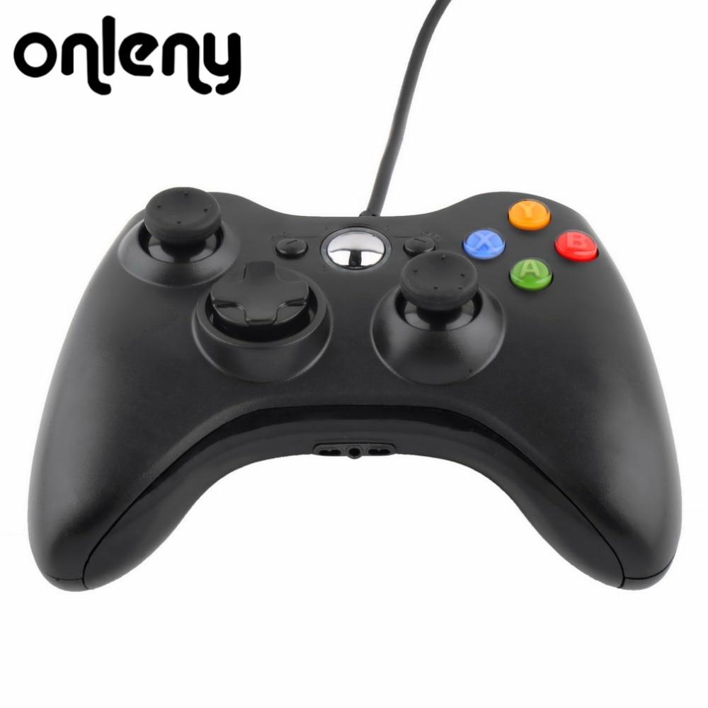 USB Wired Joypad Gamepad Controller di Gioco Per Microsoft per Xbox 360 Slim 360 per PC Gamer Android Smart TV Box Gioco Joystick Pad