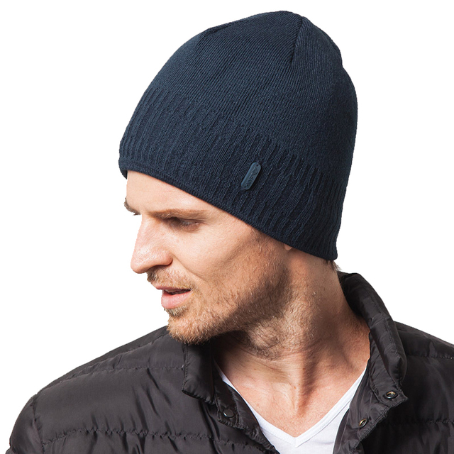 Autumn Man Hats 2016 Beanies Winter Knitted Warm Skullies Gorros For Men Fashion Winter Warm 3 Colors High Quality New