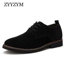 ZYYZYM Men Casual Shoes Lace-Up Classic Style Flat Bullock Men Shoes 2018 Autumn New Plus Size