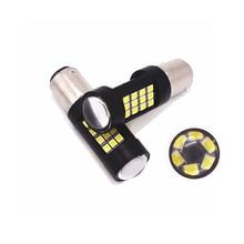 2pcs 1156 P21W BA15S 1157 BAY15D 2835 42 SMD Car Led  Bulb Turn Signal Light Lamps Reverse 12V 24V White