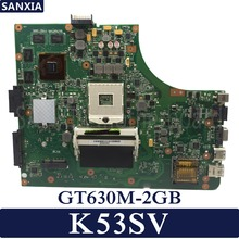 цена на KEFU K53SV Laptop motherboard for ASUS K53SM K53SC K53SJ P53SJ A53SJ original mainboard REV2.1/2.4/3.0/3.1 GT630M-2GB