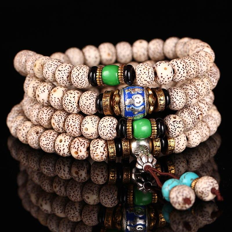 Hainan Bodhi Bracelet 108 mois de broyage à sec cinq bénédictions descendent sur la maison un dense Bodhi perle son à portée de main