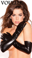 Patent Leather Gloves Europe And The United States Punk Queen Temptation Coated Hip Hop Gloves Sexy
