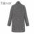 2017 Primavera Outono Casaco de Lã Nova Moda das Mulheres Longo Casaco De Lã Único Breasted Tipo Fino Feminino Outono Inverno Lã casaco