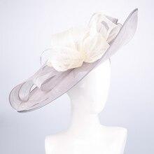 Royal Wedding Hats For Women Elegant Purple Fascinators Vintage Church Hat Wide Brim Flower Fedora Hat Kentucky Derby Party Cap osprey рюкзак raven 10 royal purple