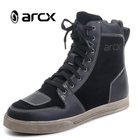 ARCX Motorcycle Boots Waterproof Cow Leather Moto Riding Boots Men Road Street Casual Shoes Motocross Breathable Boots L60628