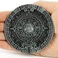 Nueva Marca de Moda Hebillas Para Hombre de La Nueva Vendimia Peltre Hebillas de Cinturón Círculo Calendario Azteca Maya Indian