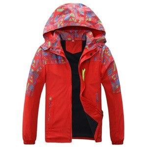 Image 2 - À prova dwaterproof água índice 10000mm à prova de vento impressão meninas meninos jaquetas quente criança casaco crianças outerwear crianças roupas para 120 170cm