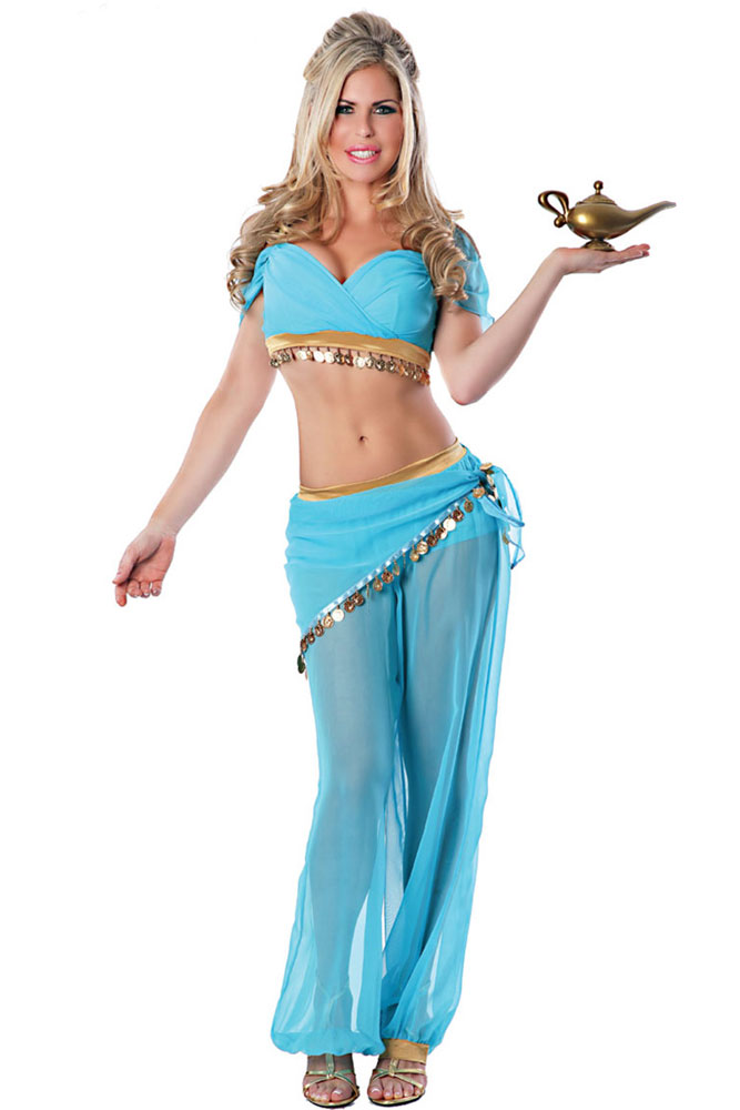 dear lover 4 pieces set cosplay adult sexy belly dancer genie halloween costume lc8748china - Halloween Costumes Prices