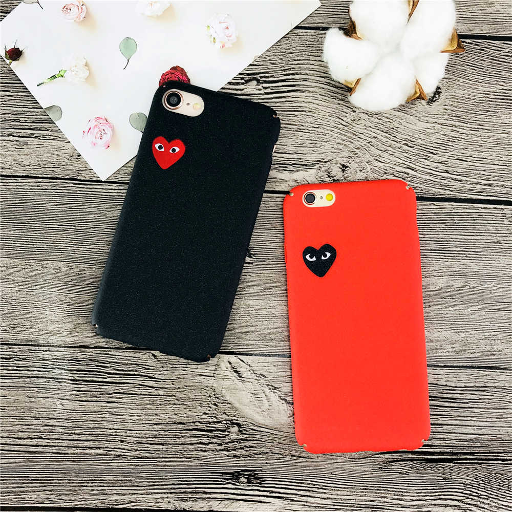 CDG Play Comme des Garcons Hard Matte Protective Phone Cases For iphone X 5 5S SE q50