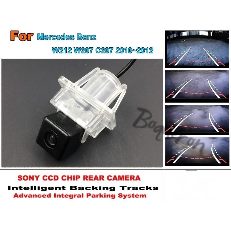 For Mercedes Benz E Class MB W212 W207 C207 2010~2012  Smart Tracks Chip Camera HD CCD Intelligent Dynamic Rear View Camera s1000rr turn led lights