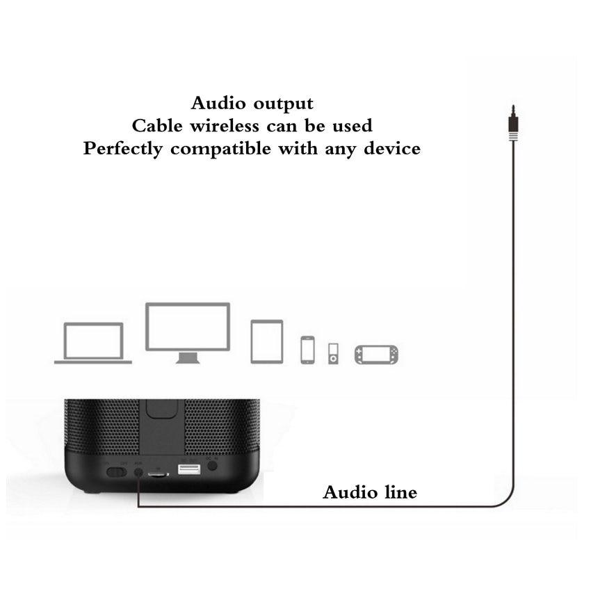 Altoparlante Senza Fili di Bluetooth caixa de som Mini di Musica Sound Box Sostegno TF Card USB Linea Formato con 5200 mAh batteria - 6