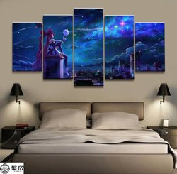 5 Panel LOL League of Legends Jinx Game Canvas Printed Painting For Living Wall Art Home Decor HD Picture Artwork Modern Poster