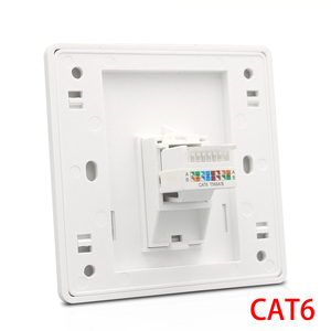 CAT6 RJ45 Network Wall Face Cover One Port Internet Panel Extruded Wire LAN Socket For Tenda Network Switch(China)