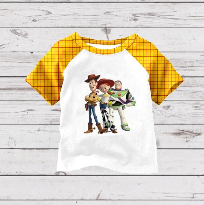 Raglan T-Shirt Boys Tops Story-Print Little Cartoon Short-Sleeve Baby-Boy Summer Toy