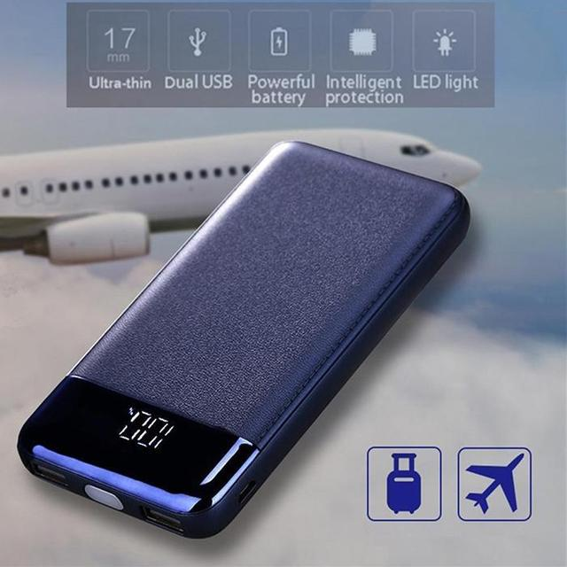 Batería Externa del Banco de energía de 30000 mah cargador rápido portátil LED 2USB teléfono móvil Poverbank para Xiaomi iPhone Samsung