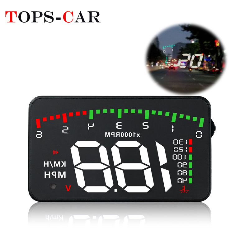 GEYIREN Car-Accessories Head-Up-Display Warning-System Rpm-Meter Car Hud Water-Temperature-Alarm