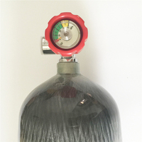 Hot Sale 6 8L Carbon Fiber Gas Cylinder 4500Psi 300Bar HP PCP Tank With Red Safety