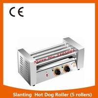 Hot Sale Commercial 5 Rollers Double Temperature Control Sausage Grill Hotdog Machine Hotdog Roaster Machine