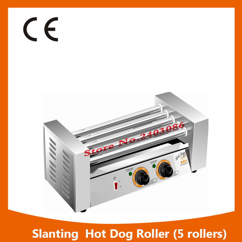 KW-005B  independent temperature control 5 roller hot dog grilll automatic sausage maker machine with 304 stainless steel kairos kairos kw 9603 b