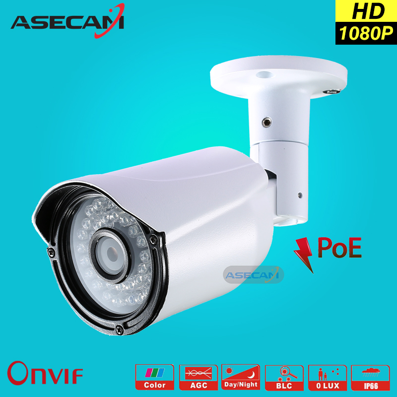 NEW Quality Picks IP Camera 1080P 48V POE CCTV infrared Bullet Metal Waterproof Outdoor Onvif Cam Security 2mp Surveillance p2p cctv camera housing metal cover case new ip66 outdoor use casing waterproof bullet for ip camera hot sale white color wistino