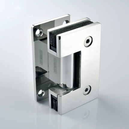 Stainless Steel Glass Door Hinge, 90 Degree Hinge, Shower Room Accessories, Shower Door Hinge
