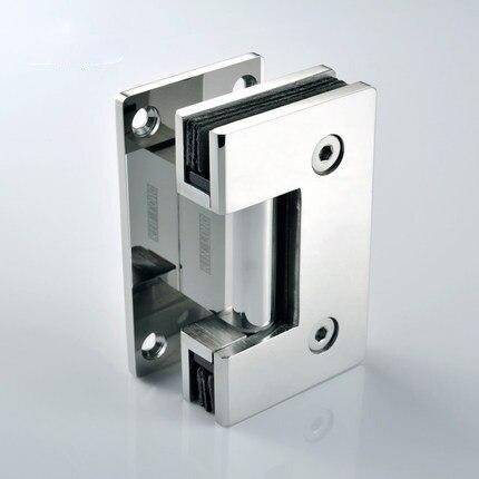 Charnière de porte en verre d'acier inoxydable, charnière de 90 degrés, accessoires de salle de douche, charnière de porte de douche