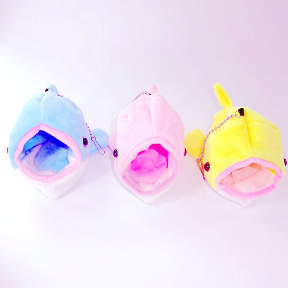 Cute Pet Hamster Nest House Small Animal Guinea Pigs Hamster Mice Winter Warm Plush Cotton hanging Bed Hamster Sleeping Bag