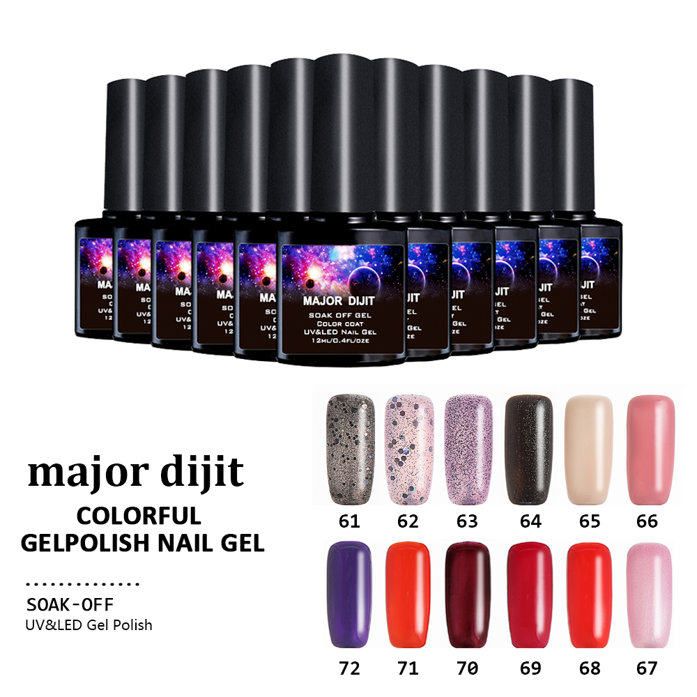 Major dijit 12ml new pearl color gel polish nail art salon for Salon uv