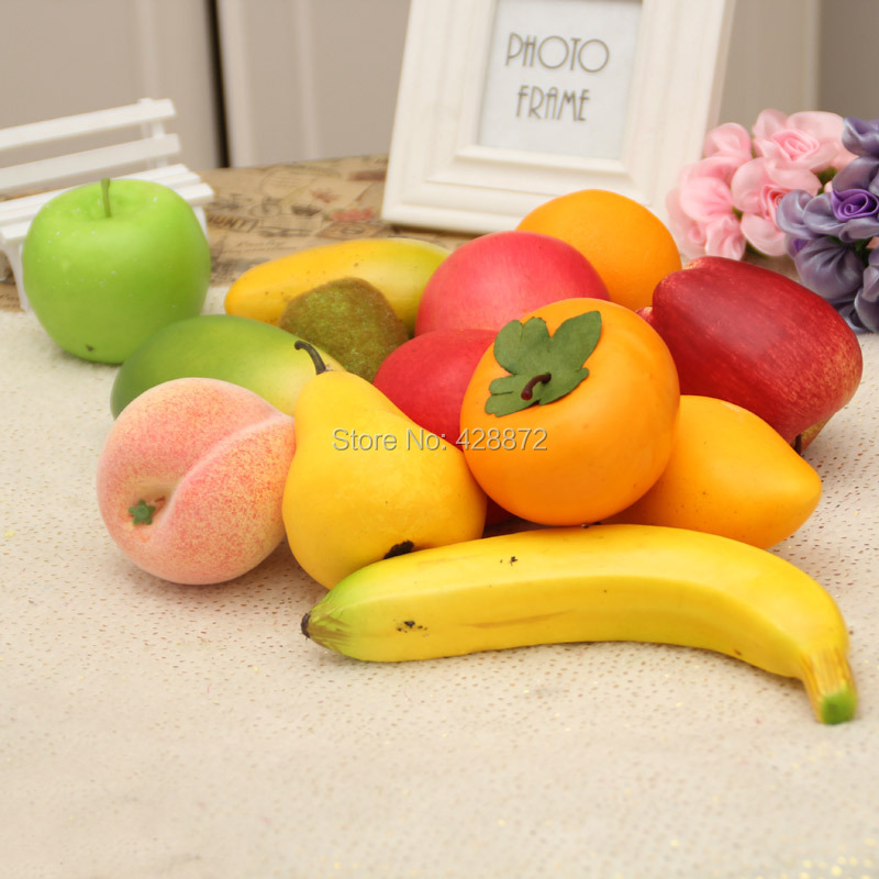 10pcs lot artificial fruit and vegetablesfake fruit foam for Artificial fruit for decoration