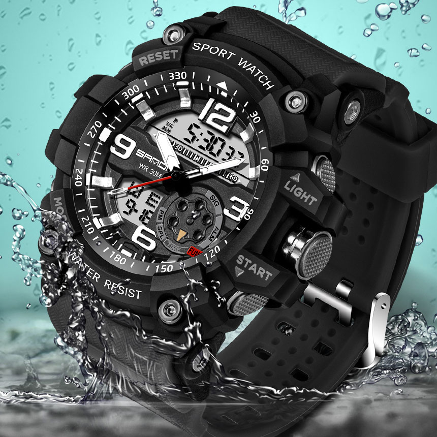 2017 SANDA Sport Watch Men Top Brand Luxury Famous Electronic LED Digital Wrist Watch Male Clock