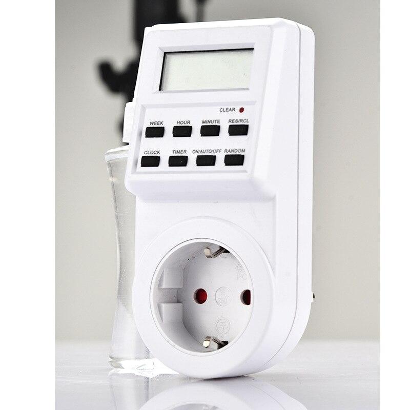 цена на EU Plug Digital Smart Timing Socket Electrical Wall Plug-in Power Socket Timer Small Screen Switch Time Clock 220V 110V AC