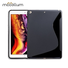 SLINE Black Cover Case For Apple iPad 9.7 2017 2018 Cases Absorption A1822 A1823 A1893 A1954 Slim Silicon Soft TPU Tablet