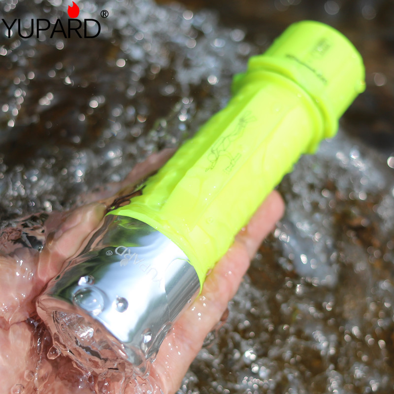 Lights & Lighting Yupard Xm-l2 Led T6 Led Waterproof Underwater Diving Flashlight Lamp Torch 3 Modes Yellow Light+2*2200mah 18650 Battery+charger Without Return
