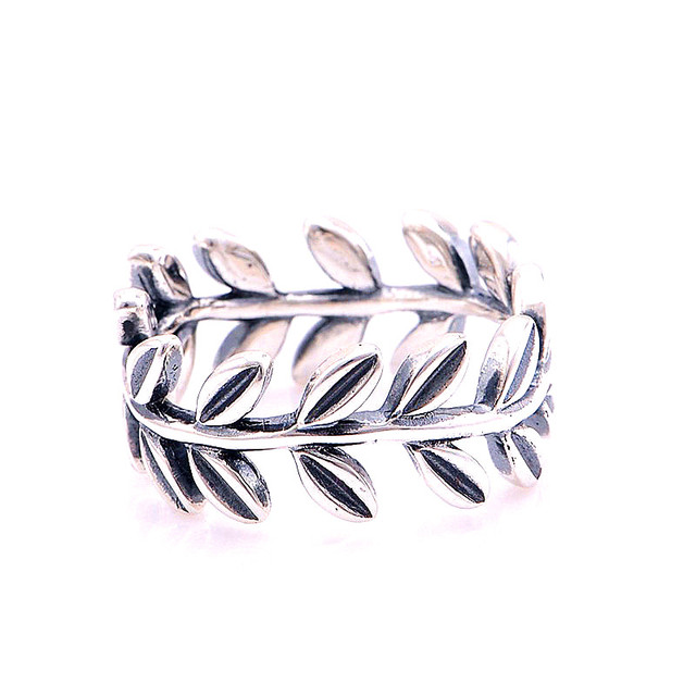 a3288bbf6 925 Silver Jewelry Rings for Women DIY Making Leaves Silver Ring FANDOLA  Genuine 925 Sterling-Silver-Jewelry Women Gift
