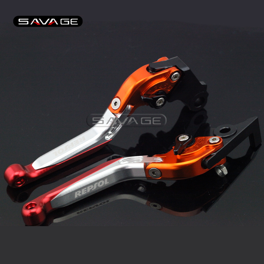 все цены на  For HONDA CBR250R CBR300R CB300F CBR500R CB500F CB500X Motorcycle Adjustable Folding Extendable Brake Clutch Levers logo REPSOL  онлайн