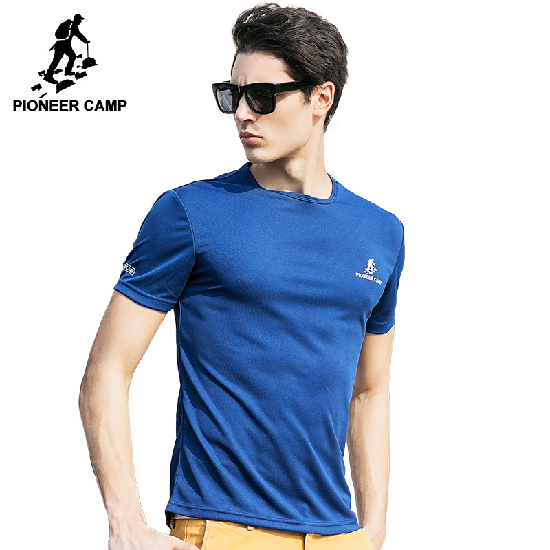 Pioneer camp 2017 summer style blue quick dry t shirt men for Big and tall quick dry shirts
