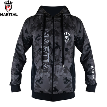 Martial :Fitness YKK zipper long sleeve  hoodies bjj/mma  trainning  sweater jogger fleece  sweatshirts men