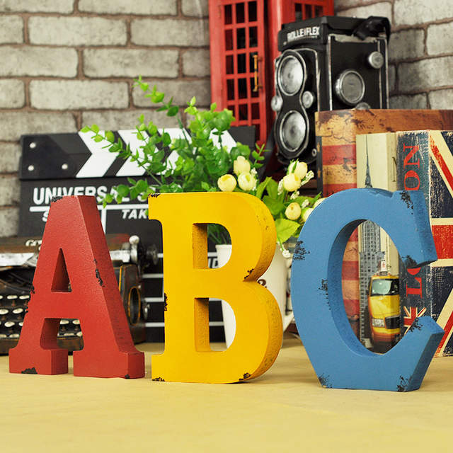 18cm 7 Wooden Letters Uppercase