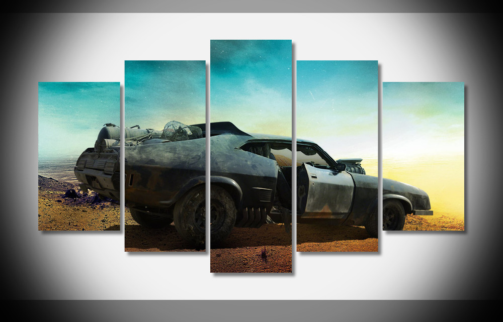 8227 042 Mad Max 4 Fury Road - Fight Shoot Car USA Movie poster Framed Gallery wrap art print home wall decor wall picture